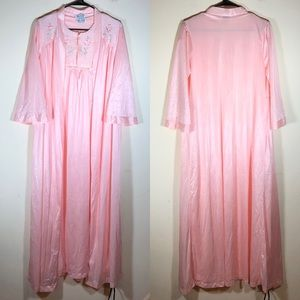 Vintage Blair Baby Pink Peignoir Nightgown Set